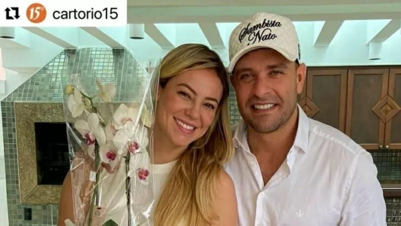 Paolla Oliveira e Diogo Nogueira se casam em segredo no Rio.